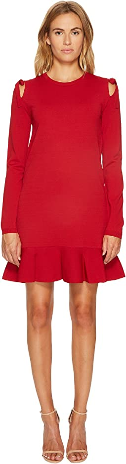 RED VALENTINO - Stretch Viscose Yarn & Bows Dress