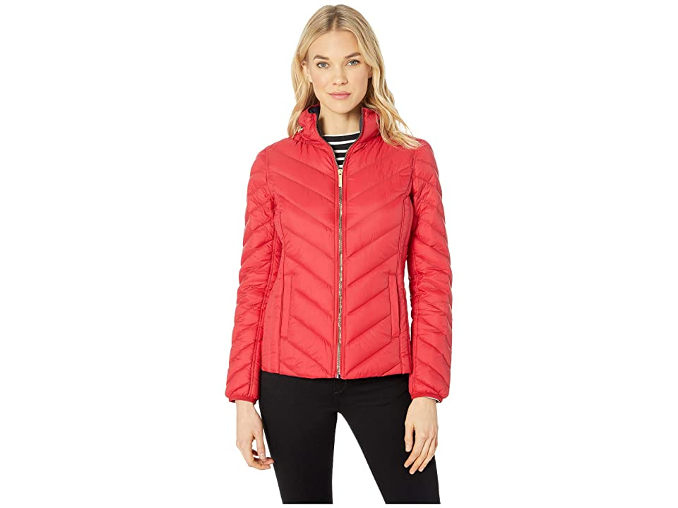 MICHAEL Michael Kors Zip Front Packable with Hidden Hood M823044GKA (Red) Women