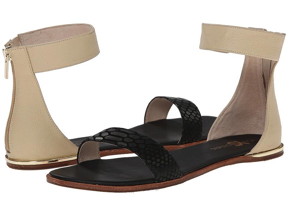 Yosi Samra Cambelle 3D Croco Leather Sandal (Black/Biscotti) Women