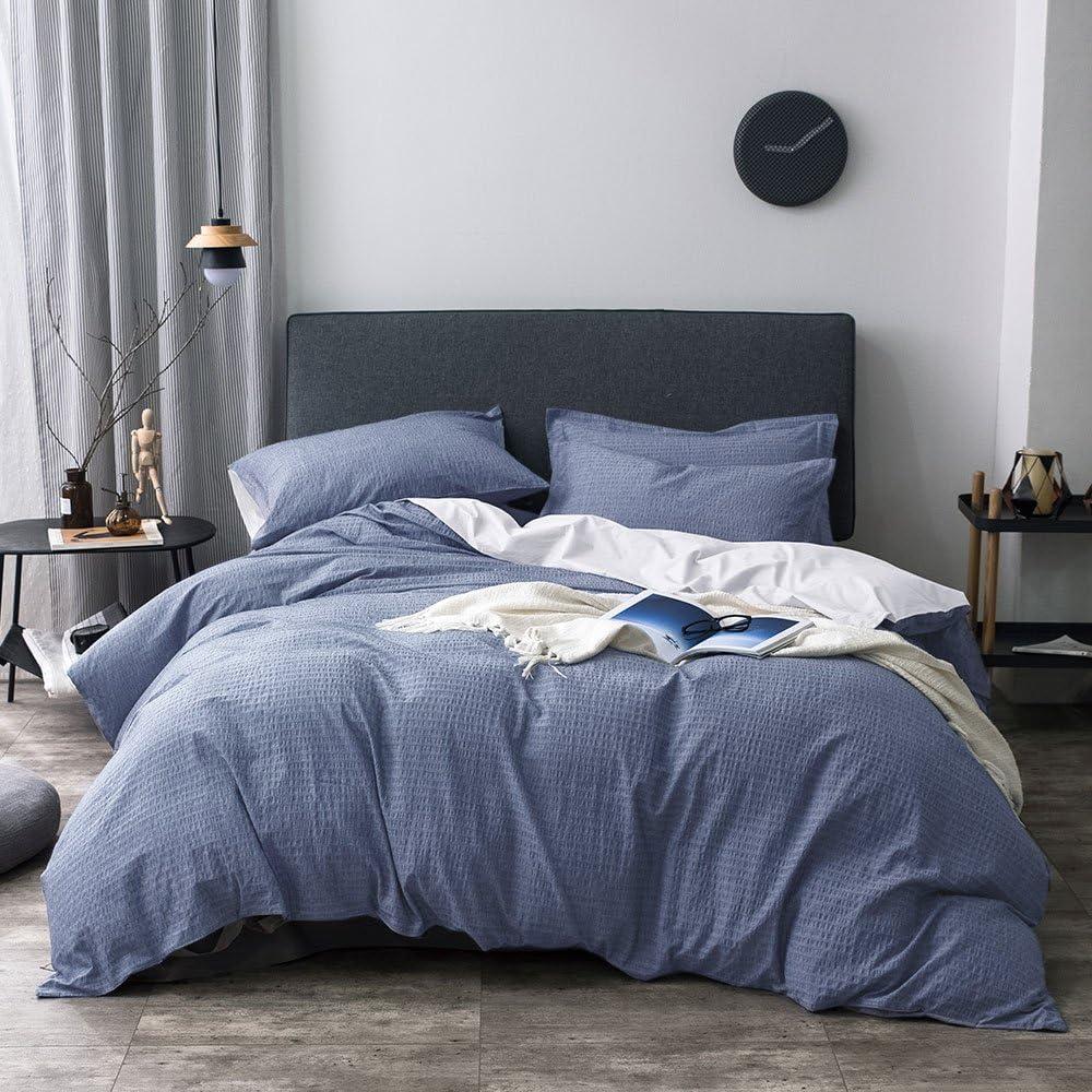 Merryfeel 100% Cotton Woven Seersucker Duvet Super special price - Stripe Cover Set Price reduction