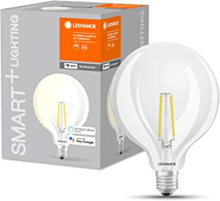 LEDVANCE Smart LEDLamp with WiFi Technology, Base: E27, Warm White, 2400K, 5.50 W, Replacement for 60 W Incandescent Bulb,...