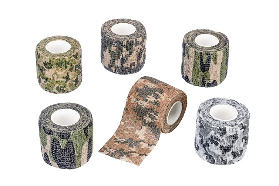 SE OD-T315-6CM Survivor Series Adhesive Free 6-Piece Camouflage Wrap Kit