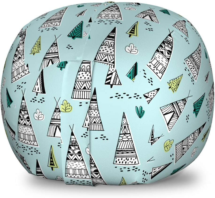 Under blast sales Lunarable Tribal Storage Toy Bag with Chair Tents Cultur New arrival Wigwam
