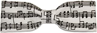 Boys Skinny Black White Sheet Music Clip On Cotton Bow Tie