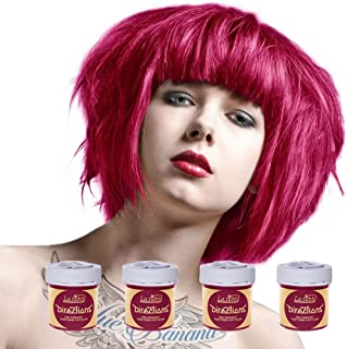 4 x La Riche Directions Semi-Permanent Hair Colour Dye Box Of Four-Flamingo Pink
