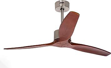 Ventilador de Techo 3 Velocidades funci/ón Verano e Invierno Potencia de 70W 3 Aspas Material del Cuerpo Acero Inoxidable Color Blanco IKOHS Wing