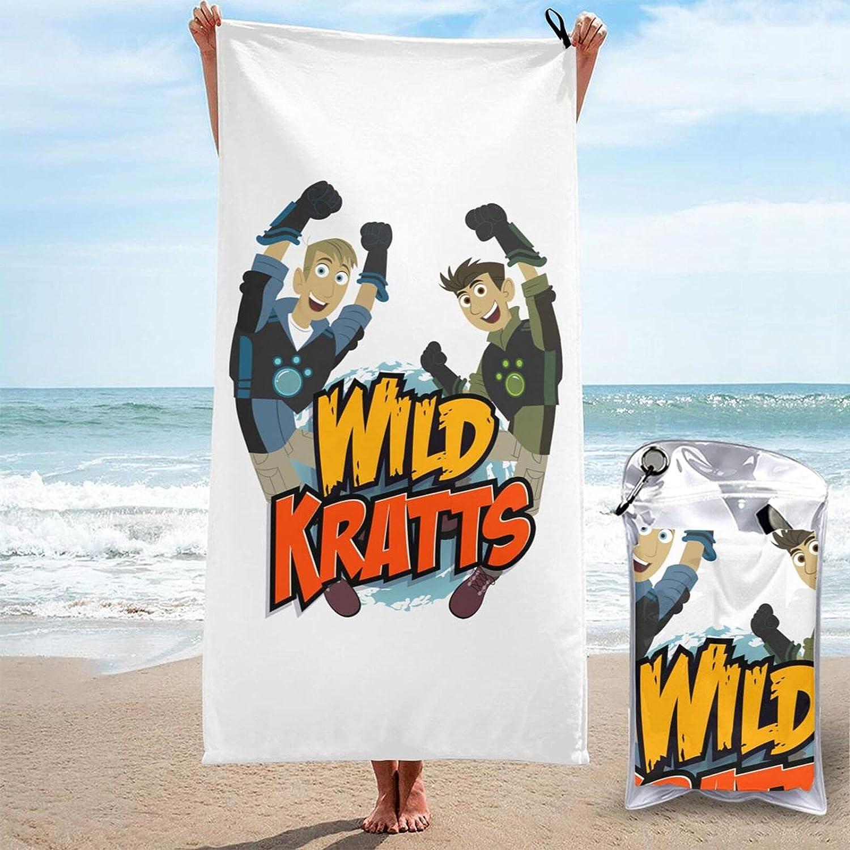 Purada W-Ild Free shipping Kratts Microfiber Swimming Oversized Pool Classic Bat Towel