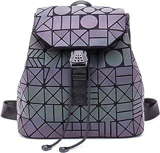 Frauen Geometrisch Leuchtend Rucksack Handtasche Damen Fashion Schultertasche Lingge Flash Travel Rucksack