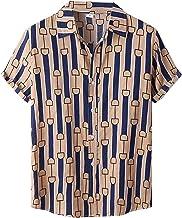 Hawaïhemd voor heren, korte mouwen, zomer, vrijetijdshemd, regular fit, shirt, T-shirt, strandhemd, basic shirt, grote mat...