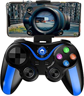 Mobile Controller for The Most Games, Mobile Gamepad Wireless Game Controller Joystick for Android/iOS/iPhone/iPad, Key Mapping, Shooting Fighting Racing Game-NO Supporting iOS 13.4 (Blue-Black)