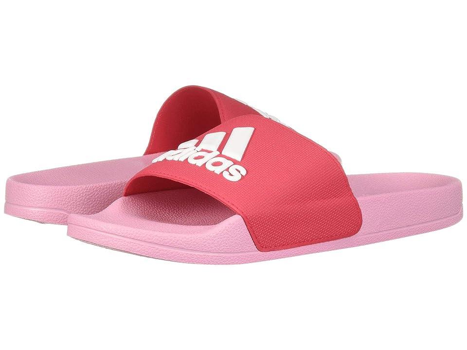 adidas Kids Adilette Shower Slide (Toddler/Little Kid/Big Kid) (Active Pink/Footwear White/True Pink) Girls Shoes