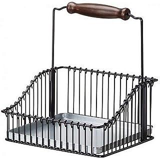 Bac de rangement en métal sous table étagère rack armoire panier usage de cuisine armoires de cuisine fournitures Finition...
