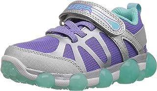حذاء رياضي مضيء للبنات Leepz 3.0 من Stride Rite ، فضي/أرجواني، مقاس 12.5 M للأطفال الصغار في الولايات المتحدة