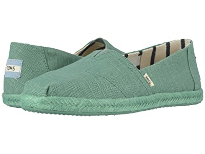 TOMS Alpargata on Rope (Winter Green Canvas on Mono Rope) Women