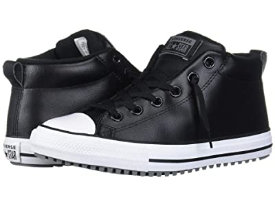 Converse Kids Chuck Taylor(r) All Star(r) Street Warmth Boot Mid (Little Kid/Big Kid) (Black/Dark Concrete/White) Boys Shoes
