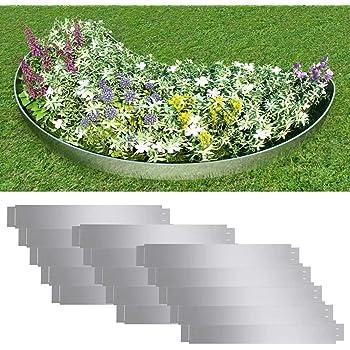 FZYHFA Set 5 Paneles Divisorios Flexibles de Acero Galvanizado 100 x 15 cm,Borduras para Jardin: Amazon.es: Bricolaje y herramientas