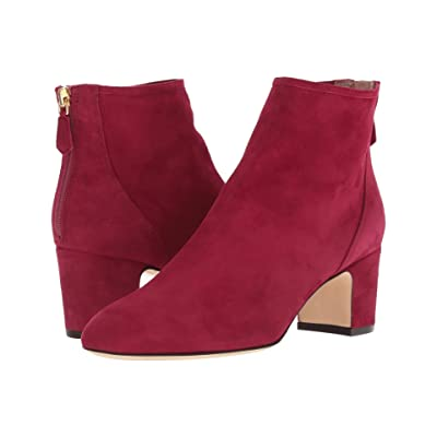 L.K. Bennett Alyss (Black Raspberry Poppy Suede) Women