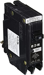 EATON CORPORATION GFTCB120 Cutler-Hammer Ground Fault Type Gftcb Circuit Breaker, 120/240 Vac, 20 A, 1 P, 10 Kaic