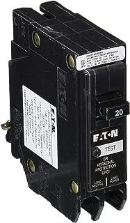 EATON CORPORATION GFTCB120 Cutler-Hammer Ground Fault Type Gftcb Circuit Breaker, 120/240 Vac, 20 A, 1 P, 10 Kaic