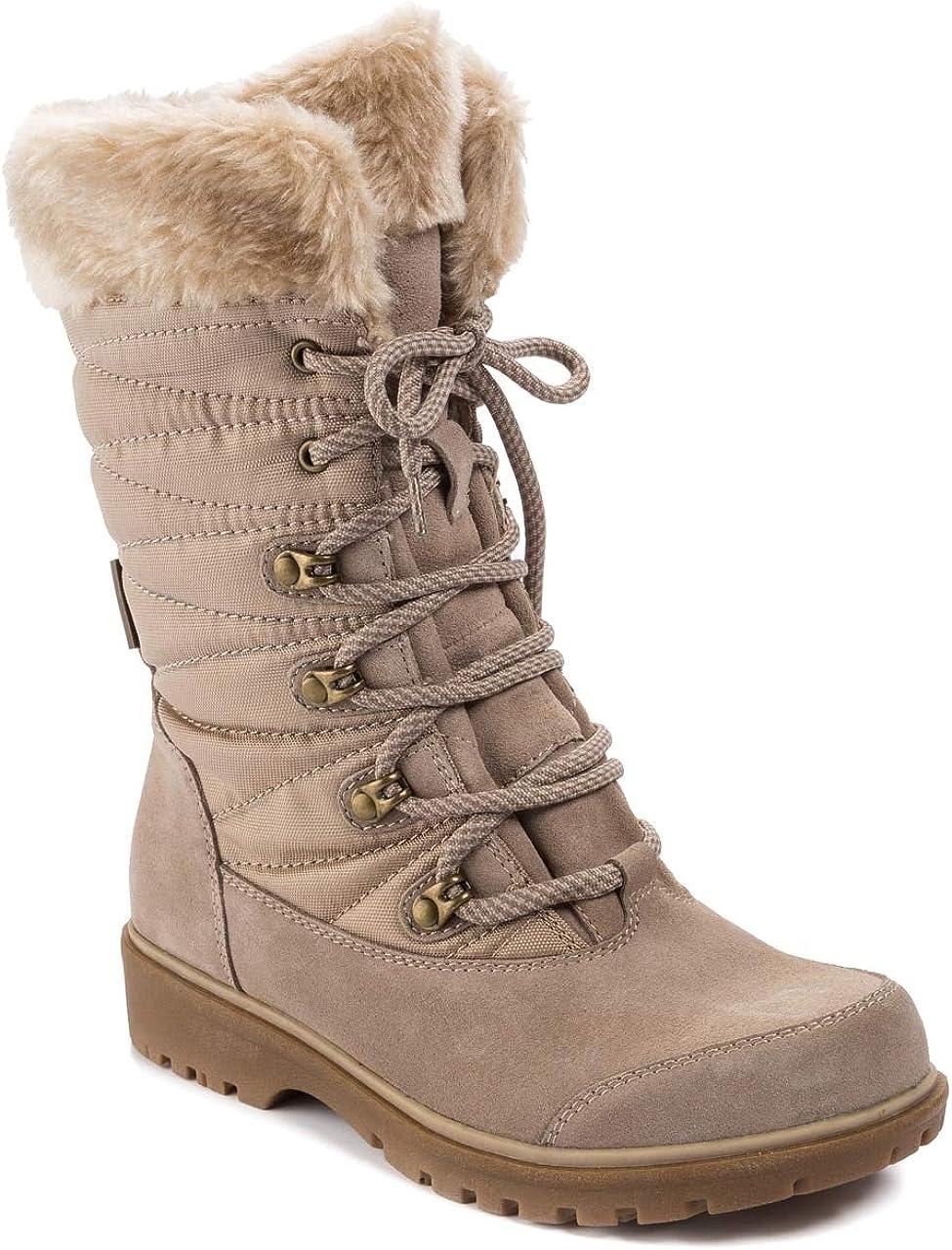 BareTraps Womens El Paso Mall Satin wate Washington Mall Leather Mid-Calf Round Toe Weat Cold