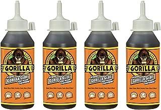 Gorilla 5002801-4 Original Glue, 8 oz, Brown, (Pack of 4), 4-Pack, 4 Piece