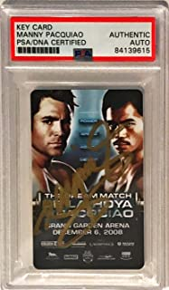 2008 MGM Hotel Key Manny Pacquiao Pacman Signed Trading Card Slabbed - PSA/DNA Certified - Autographed Boxing Cards