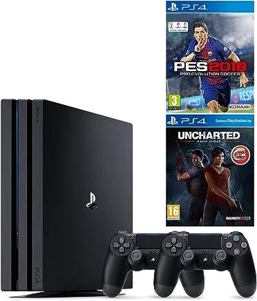 SONY PS4 PRO 1 TB KONSOL + 2. KOL + PS4 PES 18 + UNCHARTED KAYIP