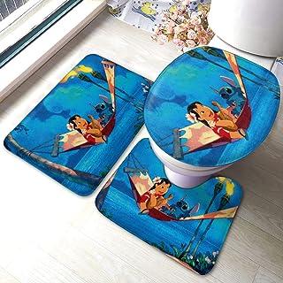 Hot New Mat Bathroom Rug Custom Lilo And Stitch Non Slip Bathmat Floor Bath Rug
