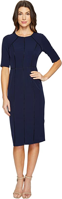 Maggy London - Dream Crepe Sheath Dress with Elbow Sleeve
