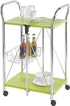 Wenko Sunny Carro de Cocina Plegable, Metal Recubrimiento de Polvo, Verde, 44X56.5X90.5 Cm