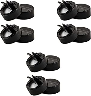 Jarming Collections - Mini Spice Plastic Pour/Sift Lids- 1 3/4 inch with Foam Liner-BPA Free-Made in the USA (12, black)