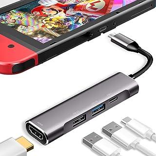 3XI Type C ハブ 4in1 USB C 4K HDMI出力 PD 充電対応 USB3.0 USB2.0 多機能アダプターサポートNintendo Switch(任天堂スイッチ)/Samsung Dex Mode/MacBook /Ma...