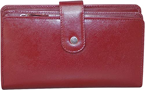 Style Shoes Maroon Leather Clutch Wallet Handbag for Girls Ladies Women
