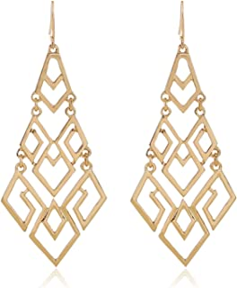D EXCEED Ladies Gift Idea Jewelry Fashion Chandelier Lightweight Statement Gold or Silver or Black Earrings for Women