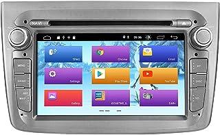 ZLTOOPAI Android 10 Autoradio für Alfa Romeo Mito ab 2008, GPS Navigation, Audio, Stereo, Einzelkopf Einheit mit IPS Bildschirm, DSP, WLAN, OBD, DVR, DAB+, Grau