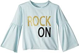 Extra Soft Vintage Jersey Rock On Flared Sleeve Tee (Toddler/Little Kids)