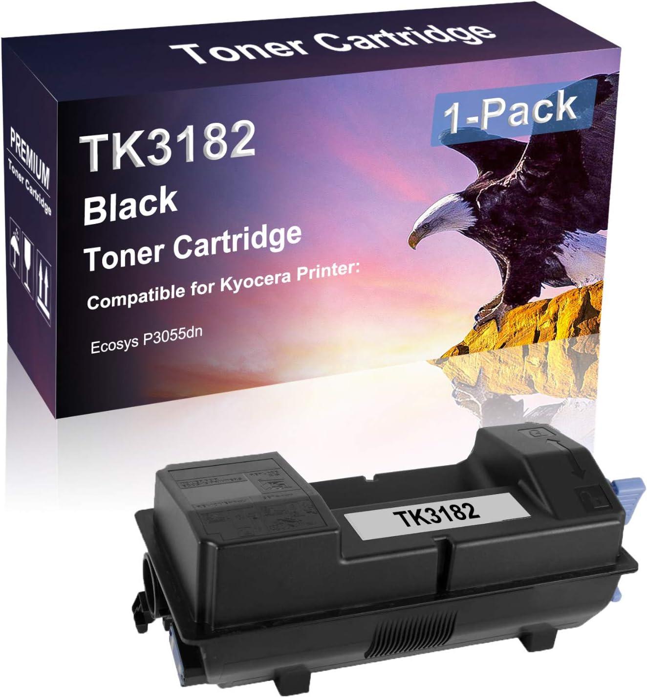 1 Pack Black Compatible High National uniform free shipping Toner Yield TK3182 Laser Max 80% OFF Printer