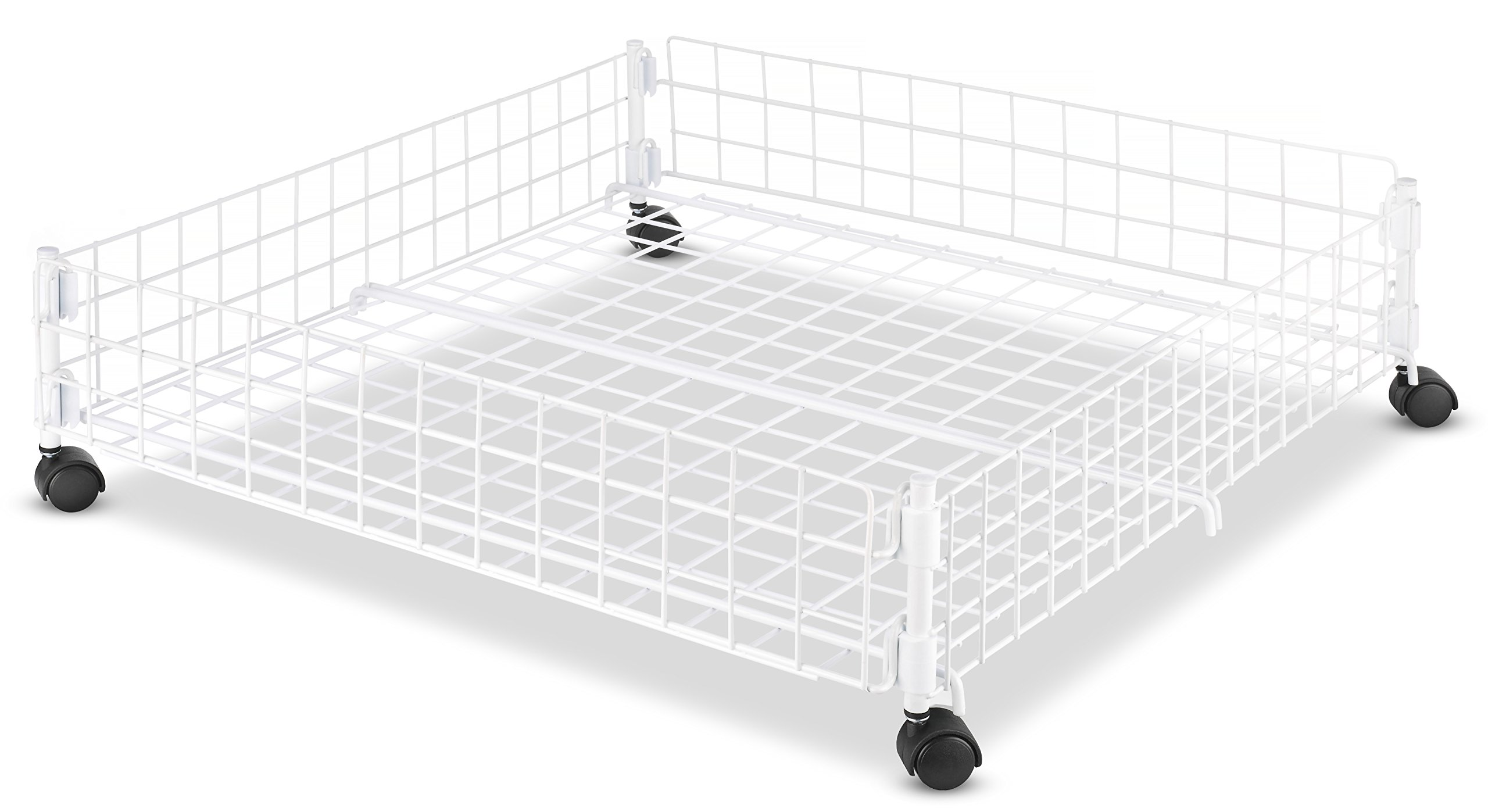 Whitmor Rolling White Wire Underbed