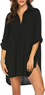 Women's Swimsuit Beach Cover Up Shirt Bikini Beachwear...