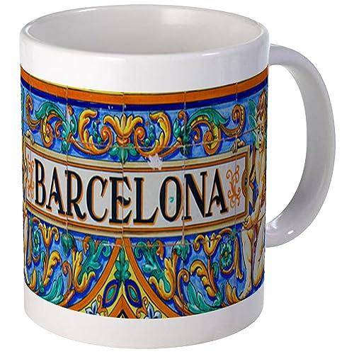76c6b835bc CafePress - Barcelona Mosaica Mugs - Unique Coffee Mug, Coffee Cup