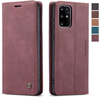 Samsung Galaxy S20 Plus Case,Samsung Galaxy S20 Plus Wallet Case Cover, Magnetic Stand Flip Protective Cover Leather Case with ID & Credit Card Slots Holder Case for Samsung Galaxy S20 Plus (Wine Red)