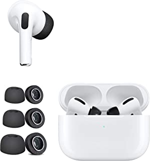 DamonLight [3 Pairs] Memory Foam Ear Tips for Apple AirPods Pro Sponge Silicone Replacement Noise Reducing Eartips Buds S/...