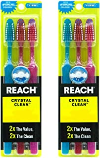 Reach Toothbrush Crystal Clean Firm 3 Pack(Pack of 2) Total 6 Brushes