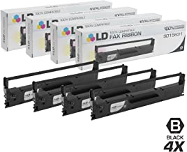 LD Compatible Ribbon Cartridge Replacement for Epson S015631 (Black, 4-Pack)