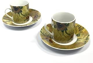Vincent Van Gogh Espresso set Sunflowers (2 pack)