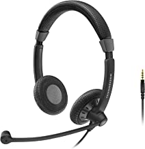 Sennheiser SC 75 (507085) - Double-Sided Business Headset | For Mobile Phone and Tablet | with HD Sound & Noise-Cancelling Microphone (Black)