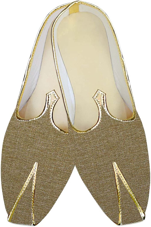 INMONARCH Mens Tan Jute Polyester Wedding shoes MJ015146