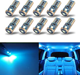 iBrightstar Newest Extremely Bright Wedge T10 168 194 LED Bulbs For Car Interior Dome Map Door Courtesy License Plate Ligh...
