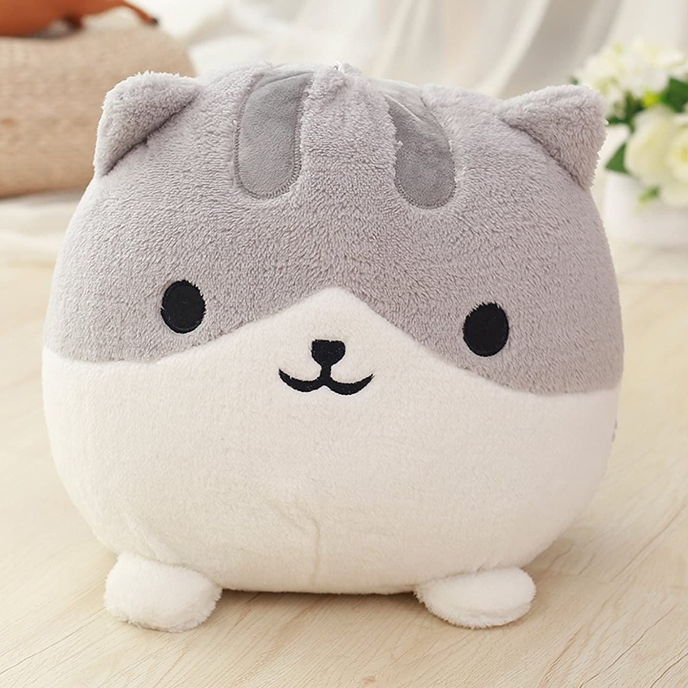 束カイウス先住民ぬいぐるみ 特大 猫 かわいいぬいぐるみ ふわふわ猫ぬいぐるみ IKASA  ギフト プレゼント お祝い Hmao462  30CM (グレー)