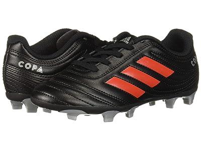 adidas Kids Copa 19.4 FG Soccer (Little Kid/Big Kid) (Black/Hi-Res Red/Silver) Kids Shoes